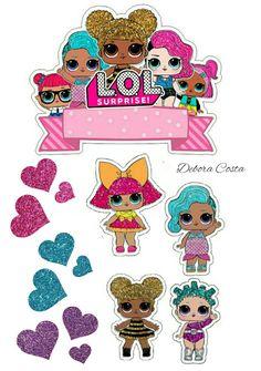 Lol Doll Cake, Doll Birthday Cake, Homemade Stickers, Diy Cake Topper, Paper Doll House, Unicorn Stickers, Paper Dolls Printable, Doll Party, Lol Dolls