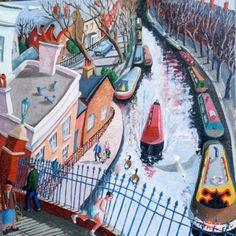 View the painting: London Regents Canal Little Venice by Francis Farmar John Galliano, Clarks, Little Venice London, Steve Madden, Homemade Art, London Art, Naive Art, Types Of Art, Beautiful Paintings