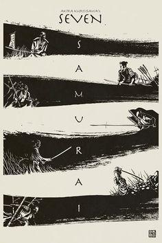 Les sept samouraïs - 1954 - De Akira Kurosawa Avec Toshirô Mifune, Takashi Shimura, Keiko Tsushima ...