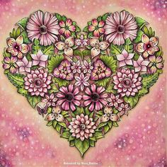 Que lindo! with My heart is completed from Magical colouring book and joining in with Jungle Coloring Pages, Coloring Book Art, Colouring Pages, Adult Coloring, Coloring Stuff, Coloring Tips, Johanna Basford Books, Johanna Basford Coloring Book, Magical Jungle Johanna Basford
