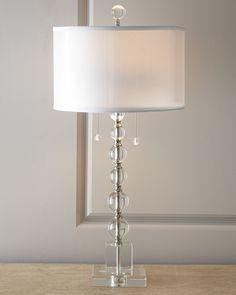 14.5 x 31  Crystal Table Lamp