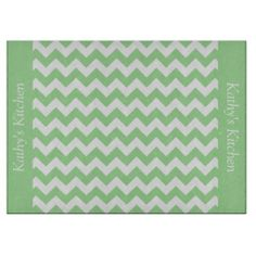Mint Green Chevron Glass Cutting Board  .................This design features a Mint Green Chevron pattern. The TEXT on both sides (left and right) can be customized with your own name. Check out my store for more colors.