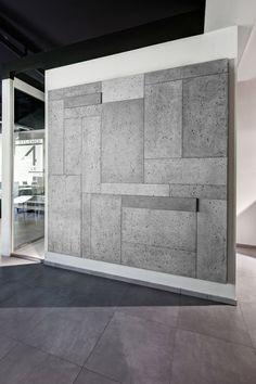 DesignerStone LTD - Polished Concrete Wortkops - Wall Panels: Concrete Design, Tile Design, Interior Walls, Interior Modern, Concrete Wall Panels, Concrete Cladding, Casa Magnolia, Concrete Interiors, Boundary Walls