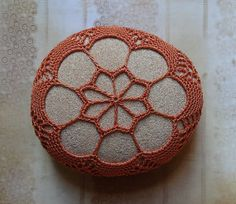 Reserved Table Decoration Crochet Lace Stone Original by Monicaj