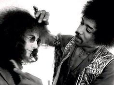 """When asked why he picked Noel Redding for his band, Jimi said, """" I dug his hairstyle, so I asked him to play bass."""""""