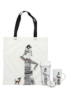 IZAK Bookworm Bag/Mirror/Mug Set