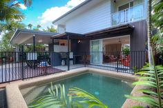 Modern standalone villa with private pool - Villas for Rent in Port Douglas Villa With Private Pool, Vacation Villas, Oasis, Deck, Australia, Ponds, Holiday Ideas, Places, Outdoor Decor