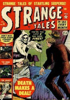 Cover for Strange Tales (Marvel, 1951 series) Creepy Comics, Horror Comics, Horror Art, Marvel Heroes, Marvel Comics, Marvel Vs, Comic Book Covers, Comic Books, Marvel Masterworks