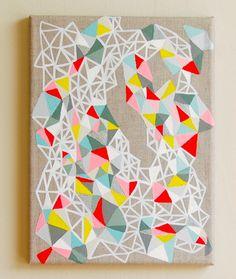 geometric art. LOVE.