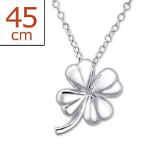 Small Lucky Shamrock Real Sterling Silver Necklace