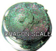 Dragon Smaragd grün lila Glitter natürliche Mineral Eyeshadow Mica Pigment Lumikki Kosmetik