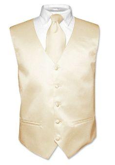 Light Brown Vest And Light Brown Necktie Set. Mens Solid Color Light Brown Dress Vest And Neck Tie Set. Brand New Vest And Necktie Set. Wedding Vest, Wedding Suits, Wedding Scene, Mens Tux, Mens Suits, Chambelanes, Men Dress, Dress Vest, Tuxedo For Men