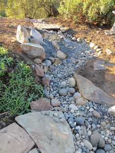 Natural-looking dry creek bed