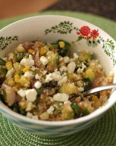 Zucchini, Corn Quinoa from Aggie's Kitchen