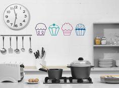 For my cupcake kitchen  :D  Cupcakes Vinyl Wall Decal - Kitchen Children Girl Baby