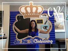 Crown / Prince / King / Royalty / Baptism / Communion photo booth cutout frame prop ··· Marco gigante de fotos de corona / príncipe / realeza / rey / bautizo / comunión ··· www.craftyplacedesigns.com