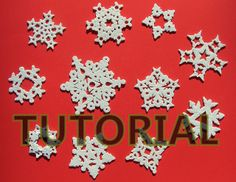 Glitter embeded Snowflake tutorial using polymer clay.