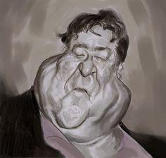 John Goodman . sketch . pencil and photoshop