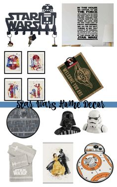 Add Star Wars home decor to your space with these budget-friendly ideas from Amazon! Star Wars Decor, Star Wars Art, Trello Templates, Star Wars Bathroom, Fruity Cocktails, Home Decor Inspiration, Decor Ideas, In This House We, Sweetest Day