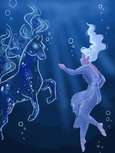 Elsa finally meet the myth of Nokk Wallpaper, Animated Movies, Disney Love, Frozen And Tangled, Disney Wallpaper, Disney Art, Disney Elsa, Disney And Dreamworks, Disney Animation
