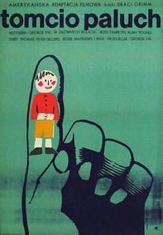 1966 Polish poster for TOM THUMB (George Pal, USA, 1958) Designer: Maria Syska
