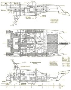 catamaran layout - Google Search