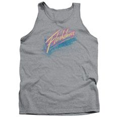 """Checkout our #LicensedGear products FREE SHIPPING + 10% OFF Coupon Code """"Official"""" Flashdance / Spray Logo - Adult Tank - Heather - Flashdance / Spray Logo - Adult Tank - Heather - Price: $29.99. Buy now at https://officiallylicensedgear.com/flashdance-spray-logo-adult-tank-heather"""