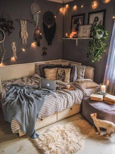 Room Design Bedroom, Room Ideas Bedroom, Small Room Bedroom, Home Decor Bedroom, Cosy Bedroom, Aesthetic Room Decor, Cozy Room, Dream Rooms, My New Room