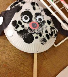 spotty dog, paper plate craft, dog craft, kid craft, children craft, red jelly, red jelly kids, make a dog craft, dog art