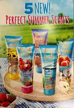 Coming this July 4th 2016 to Bath and Body Works stores we will see five new fragrances. #sunshinedays #brightsunflower , #sweetescape #strawberrypicnic , #livefresh #seasidenectar , #gethappy #whitepeachsangria , and #beachnights #summermarshmallow  I posted all about these new signature fragrances on my blog http://lifeinsidethepage.com/