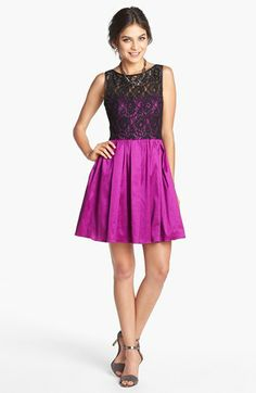 For all my winter wedding invites?  Aidan by Aidan Mattox Lace Bodice Fit & Flare Dress | Nordstrom