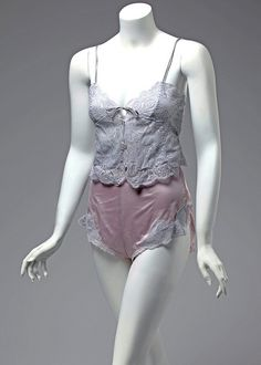 Glydons camisole and underwear set, ca. 1980s