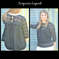 This is one of our absolute favorite tops! There is only 1 small left in this peek a boo back lace top for $32! Comment your email address to order! #turquoiseleopardboutique #peekabootop #laceytop #loveit #getitbeforeitsgone
