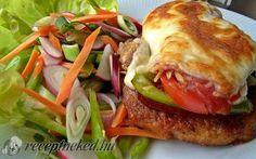 Karajszeletek gazdagon sütve Hungarian Recipes, Meat, Chicken, Food, Beef, Meal, Essen, Hoods, Meals