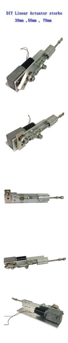 12V 50mm Linear Actuator Reciprocating Motor for DIY Design DC Worm Gear Motor