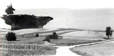 """inthenoosphere: """"Hans Hollein, Aircraft-Carrier City in Landscape (1964). Collection, Museum of Modern Art """""""