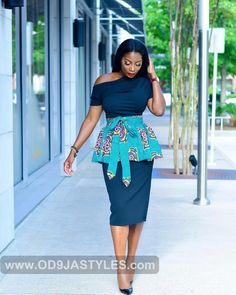 Elegant and Beautiful Ankara Styles - Fashion Ruk Work Dresses For Women, African Dresses For Women, African Print Dresses, African Print Fashion, African Attire, African Wear, Trendy Ankara Styles, Ankara Gown Styles, Ankara Gowns