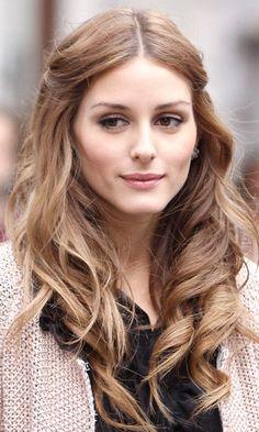 Olivia Palermo: lovely loose brunette waves.
