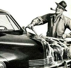 Cleaning one's bonnet!