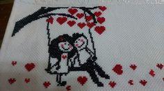 Cross Stitch Heart, Cross Stitch Flowers, Cross Stitch Embroidery, Cross Stitch Patterns, Bargello, Heart Patterns, Hand Stitching, Book Worms, Art Gallery