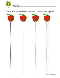 pre-k scissor skills activities | Free Preschool Printables! Hundreds of free preschool worksheets and ...
