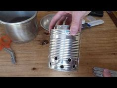 You can make your very own compact stove using only household tools and a couple of tin cans.