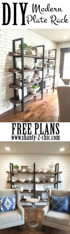 Build a custom DIY Modern Plate for only $95 in lumber! Free printable plans and…
