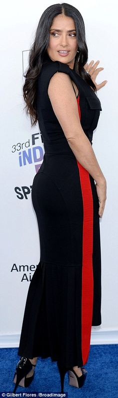 She is nominated for Best Female Lead at Saturday's Independent Spirit Awards in Santa Monica, California. And Salma Hayek looked a radiant beauty when she hit the red carpet for the star-studded affair.