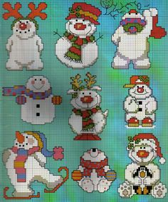 Snowmen and others. My daughter just loves snowmen.  Maybe need to make one just for her.