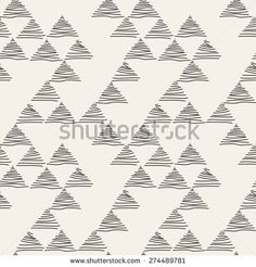 Vector seamless pattern. Irregular abstract linear triangles. Graphic hand drawn background. Doodle monochrome texture. Repeating monochrome sketch with filling hatching