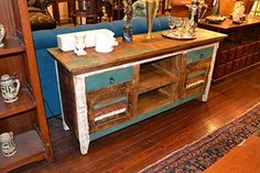 Distressed Reclaimed Solid Wood Credenza / Tv Stand - http://besttvstands.com/?product=distressed-reclaimed-solid-wood-credenza-tv-stand