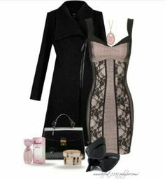 I love the formal pink dress with the black lace over top very pretty