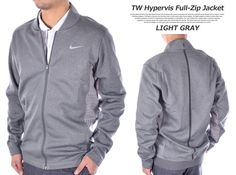 Nike TW Hypervis Full Zip Golf Jacket Tiger Woods Stay Warm Size Medium Gray NWT