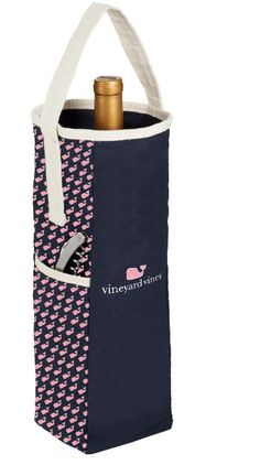 75819 - Custom step and repeat pattern on 2 sides and 2-color imprint on front of wine tote.